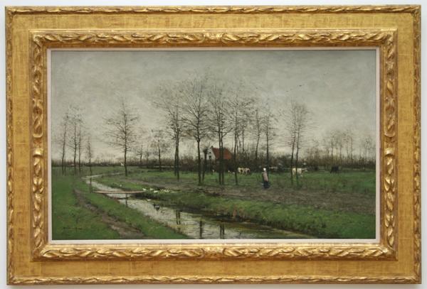 Willem Maris - Vroeg in t voorjaar - Olieverf op doek