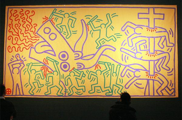 Keith Haring - Zonder TItel - Acrylverf op canvas