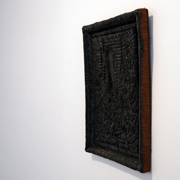 Thomas Helbig - Echo - 40x32cm Lak en latex op stof