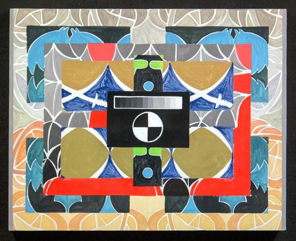 Navine G Khan-Dossos - Cascades VI - 40x50cm, Gouache op paneel