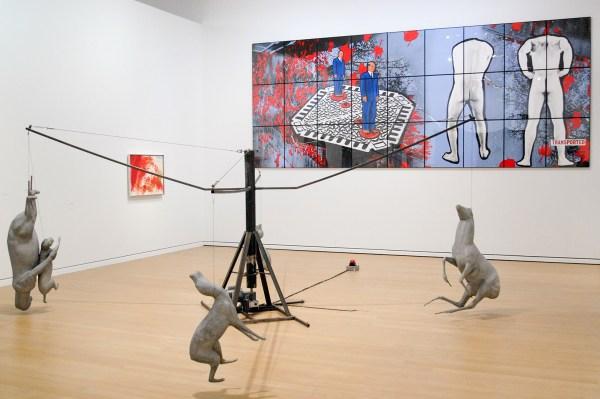 Bruce Nauman - 1988 (Gemeentemuseum Den Haag) & Gilberg & George - 1991 (Stedelijk)