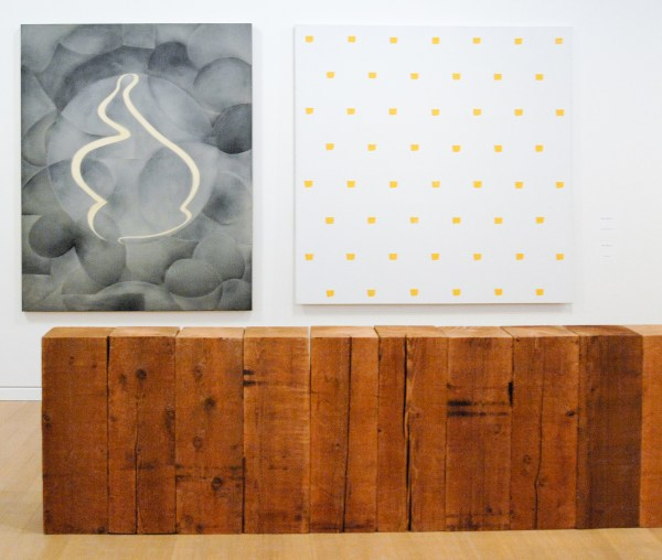 Domenico Bianchi - 1992 (Stedelijk) & Niele Toroni - 1987 (Stedelijk) & Carl Andre - 1976 (Van Abbe)