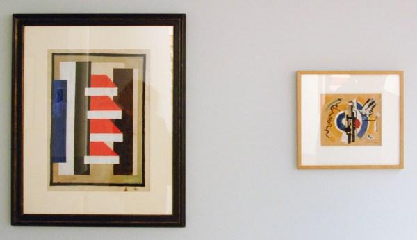 Fernand Leger - Architectural Composition - Gouache op papier, 1924-1926 & The Little Horse Doesn't Understand It - Collage en gouache, 1924 of 1925