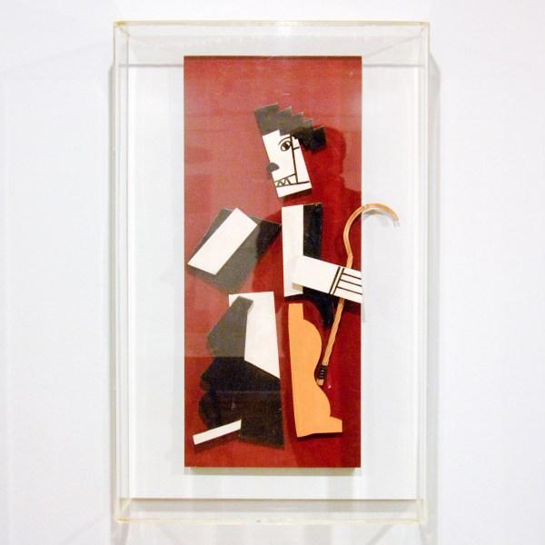 Fernand Leger - Charlot Cubiste - Hout collage in de vorm van Charlie Chaplin, 1924