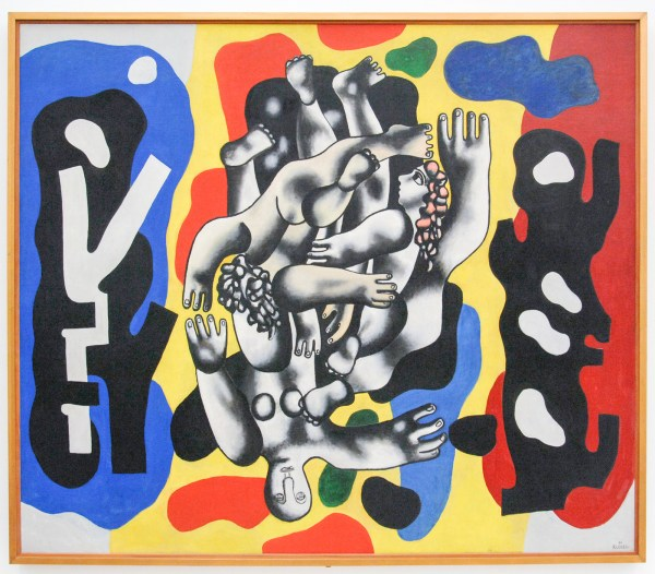 Fernand Leger - Divers on a Yellow Background - Olieverf op canvas, 1941