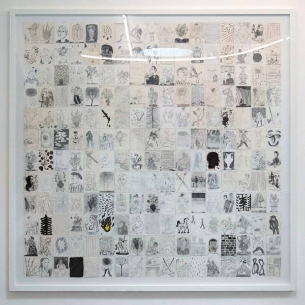 Ben Sledsens - Pulling Ropes - 190x193cm Collage van 204 tekeningen op papier