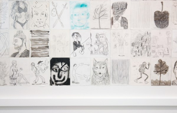 Ben Sledsens - Ringing Bells - 192x215cm Collage van 228 tekeningen op papier (detail)