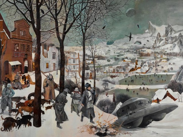 wolfe-von-lenkiewicz-hunters-in-the-snow-h004