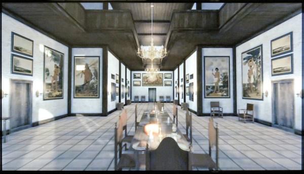 Reconstructie Paleis Vrijburg in Recife, residentie Johan Maurits, schilderijen door Albert Eckhout en Frans Post