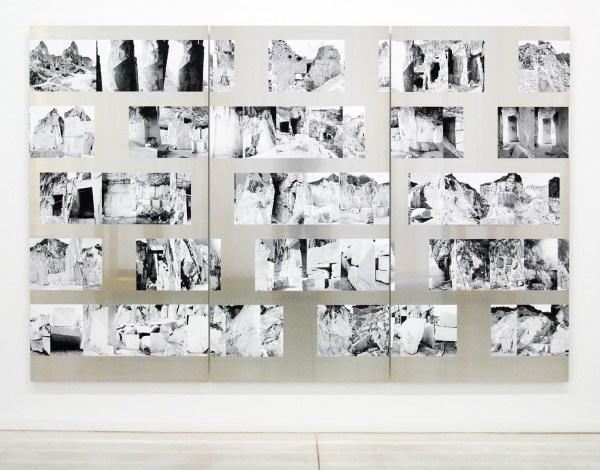 Aglaia Konrad - Carrara Cut - 30 zwart-wit prints op archiefpapier op aluminium, 2013