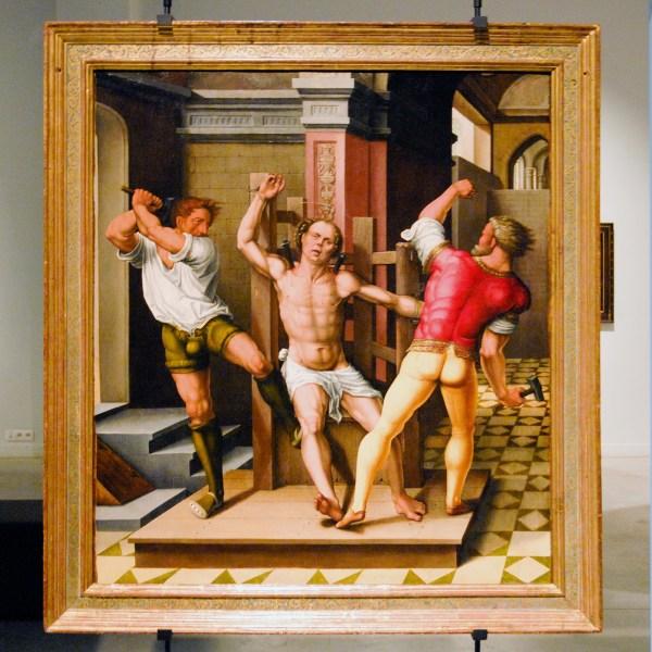 Anoniem - De Marteling van de H Kwinten - Olieverf op paneel, 1537