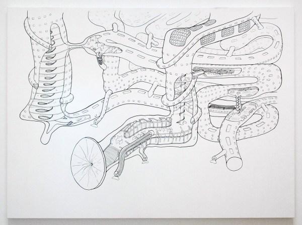 Atelier van Lieshout - Museogestor cut-away view - Inkt op doek