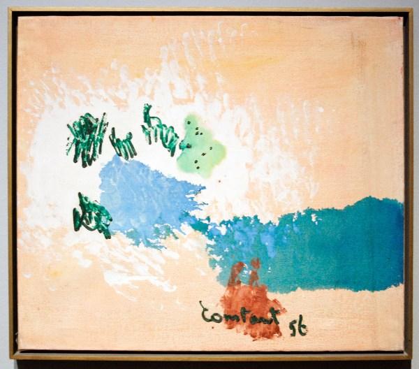 Constant Nieuwenhuijs - Compositie II (Alba) - Olieverf op doek, 1956