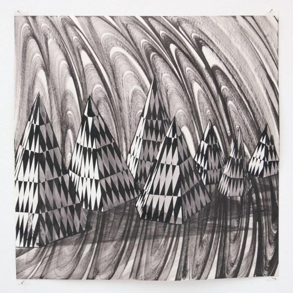 Lenneke van der Goot - Zonder Titel - 25x25cm Inkt en collage