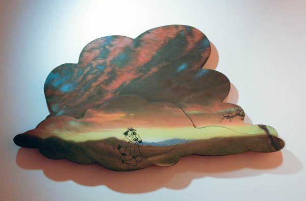 Friedrich Kunath - Cloudy (Telephone) - 67x136x11cm Acrylverf, inkt, glasvezel, piepschuim en hars