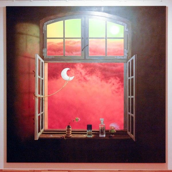 Friedrich Kunath - Egoist in Eternity - 244x240cm Acrylverf op doek