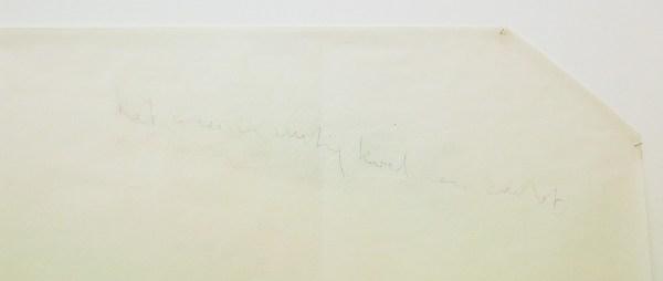 "Guy Mees - Untitled (KP-014) ""het weer is rustig, koel en zacht"" - 126x324cm Pastel op papier, 1976-1979 (detail) (bewerkte foto, contrast omhoog gehaald)"