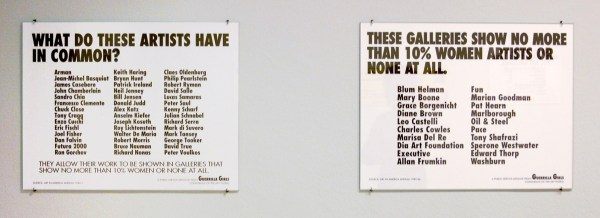 Guerrilla Girls - What do these artists have in common & These galeries show no more than 10% woman or none at all - Offset op papier