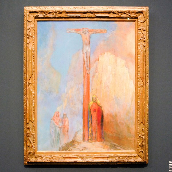 Odilon Redon - The Mount of Calvary - 69x53cm Pasterkrijt en potlood op karton, rondom 1895