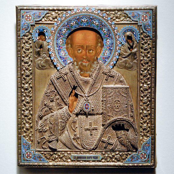 Toth Ikonen - Nicolaas de Wonderdoener, Russisch 18e eeuw