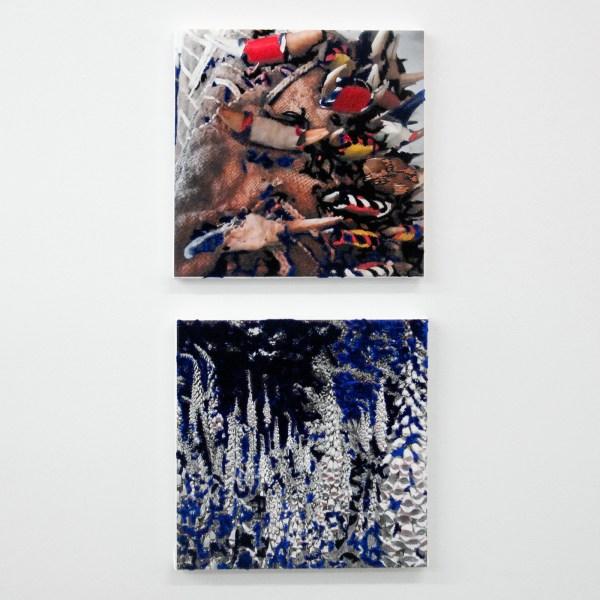 Berend Strik - Decipher the Artist's Mind (Studio SS) & (Studio ?) - beide, 33x33cm C-print met borduursel