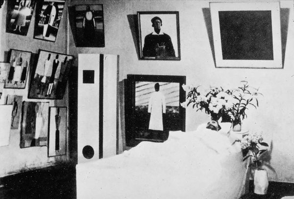 1935 - Kazimir Malevich op zijn doodbed
