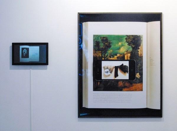 Alexandra Leykauf - Everybody's Autobiography - 2,24minuten Videoloop & La Tempesta (Giorgione) - Dessauer Strasse - 136x118cm C-print