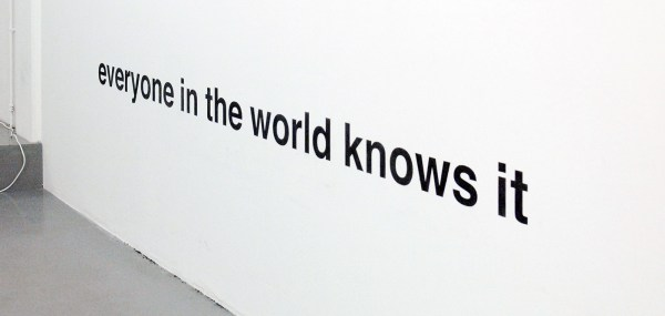 Antonis Pittas - Untitled (Everyone in the World Knows It) - Grafiet