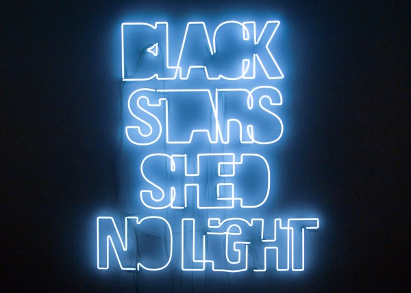 Yael Bartana - Black Stars Shed No Light - 170x152cm Neon