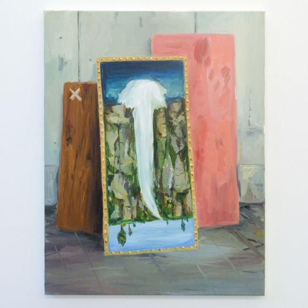 Sanne Rous - Falling Waters - 90x70cm Olieverf op canvas