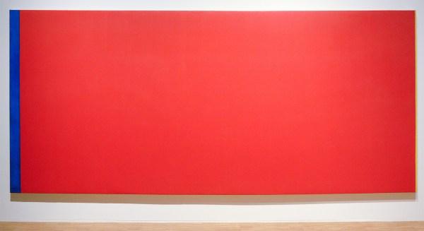 Barnett Newmann - Who's Afraid of Red Yellow and Blue III - 245x543cm Olieverf op doek (restauratie in 1986 met alkydverf), 1967