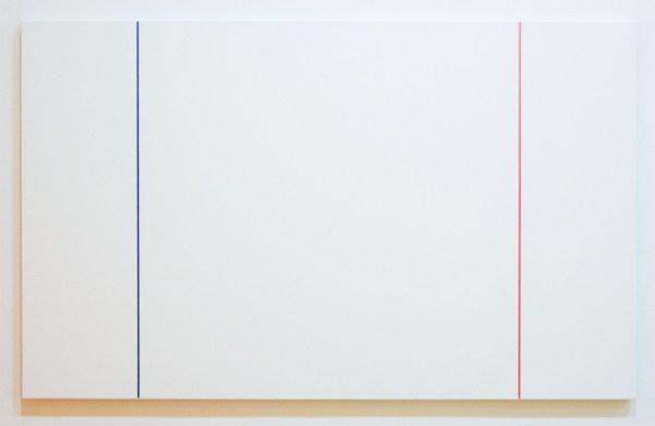 Steven Aalders - Phi Painting (Blue Red) - 100x162cm Olieverf op linnen, 2015