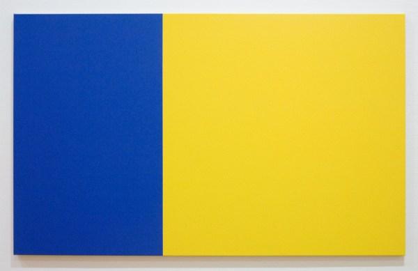 Steven Aalders - Phi Painting (Yellow Blue) - 100x162cm Olieverf op linnen, 2015
