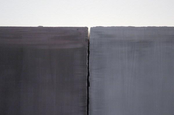 Willy de Sauter - Zonder Titel - 2 maal 55x45 cm Pigment en krijt op paneel (detail)