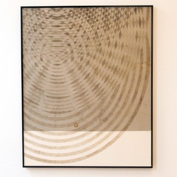 Frank Ammerlaan - Concentric Model - 155x125cm Stof, vuiligheid en meteoriet deeltjes op canvas en linnen
