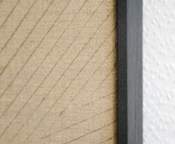 Frank Ammerlaan - Cosmic Imprint - 93x70cm Stof, vuiligheid en meteoriet deeltjes op linnen (detail)