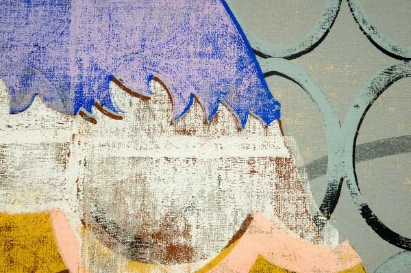 Gert en Uwe Tobias - Untitled - 155x135x4cm Gekleurde houtsnede op canvas, editie 1 van 2 (detail)
