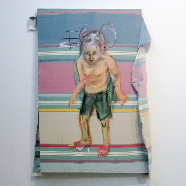 Joris Strouken - EGO - 114x75cm Acrylverf op textiel