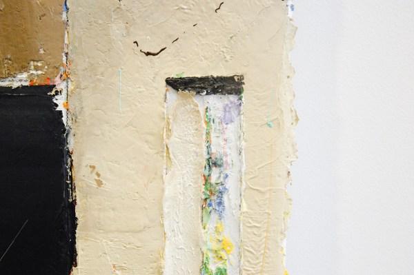 Matthias Weischer - Refractorium 1 - 49x49cm Olieverf op canvas (detail)