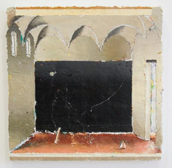 Matthias Weischer - Refractorium 2 - 49x49cm Olieverf op canvas