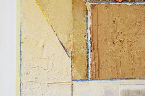 Matthias Weischer - Untitled (Tafel) - 135x126cm Olieverf op canvas (detail)