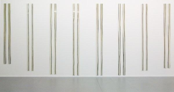 Germaine Kruip - Simultanieous Timeline (11, 1, 9, 6, 7, 8, 2, 10 & 12) - Tweeluik van marmer, tussen 242 en 313cm x 10x2,5cm