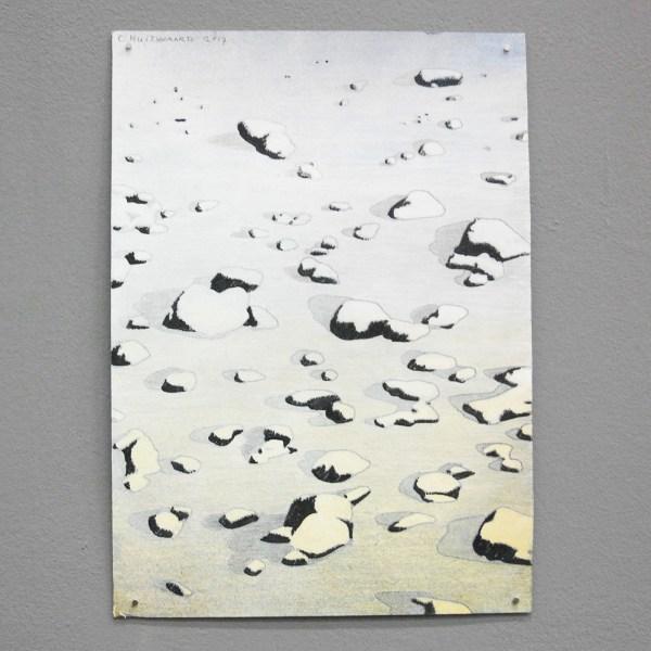 Christiaan Kuitwaard - Structuur van Stenen, 25,10,2017 - 30x21cm Mixed Media op papier