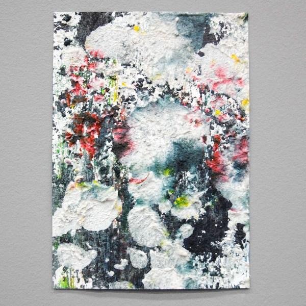 Janus Metsaars - Garden - 30x21cm Pigment, binder en zand op papier