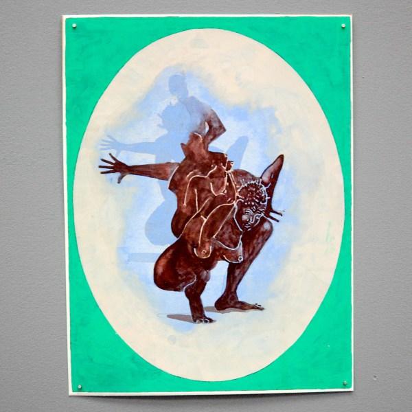 Roland Sohier - Lake M, Moves - 34x26cm Gouache op papier