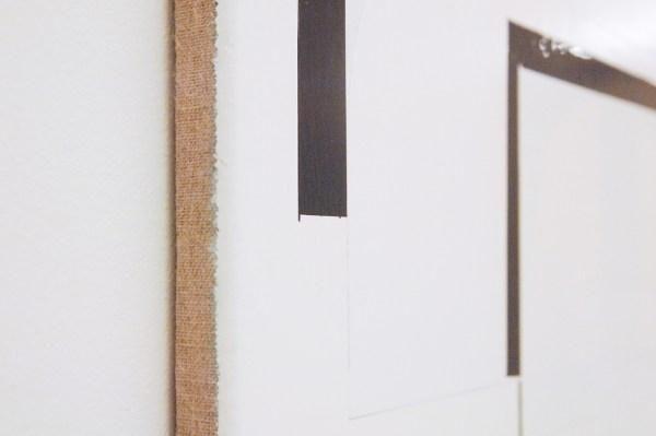 Ronald de Bloeme - Komposition II (T-Mobile) - 100x90cm Mat- en hoogglanslak op linnen (detail)