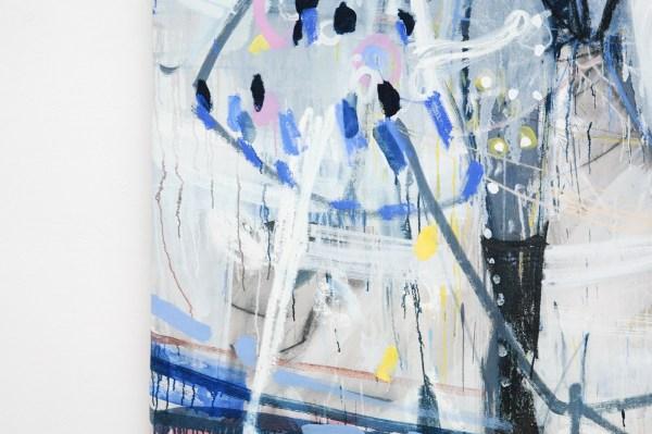 Gerben Mulder - Love Birds - 233x170cm Olieverf op canvas (detail)