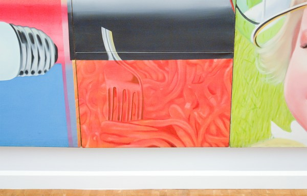 James Rosenquist - F-111 - Olieverf op canvas en aluminium (detail)