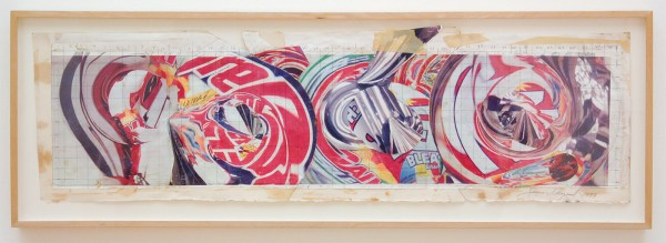 James Rosenquist - The Swimmer in the Econo-mist 1 - Kleurenkopie en mixed media op karton