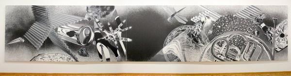 James Rosenquist - Time Dust, Black Hole - Olieverf en acrylverf op canvas